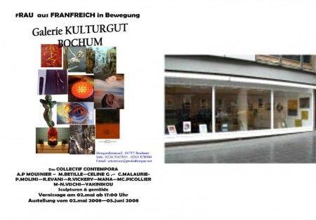 EXPOSITION EN ALLEMAGNE à BOCHUM  avec le collectif Contempora MAI/JUIN 2008