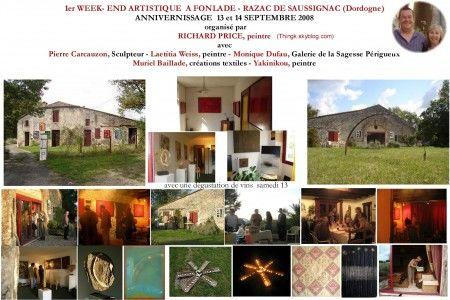 ANNIVERNISSAGE A FONLADE - RAZAC DE SAUSSIGNAC ( Dordogne) 13 ET 14 SEPTEMBRE 2008