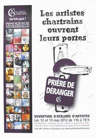 OUVERTURE ATELIERS D'ARTISTES CHARTRE 2012